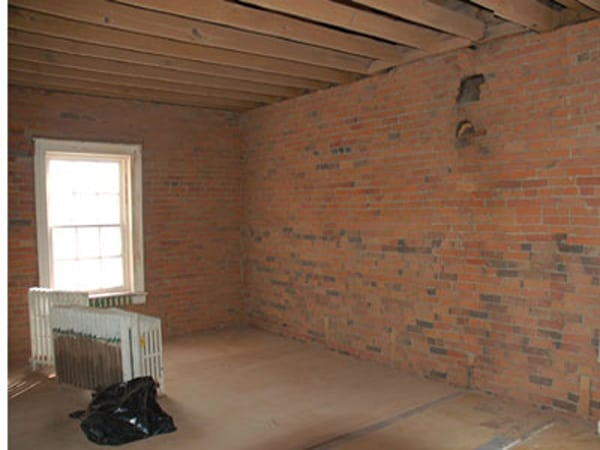 brick wall cleaning soda blasting after