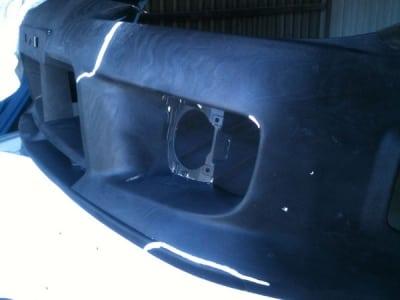 paint removal plastic bumper soda blasting before
