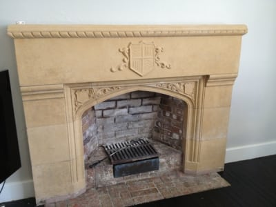 Sandstone Fireplace Dustless Blasting After - Remove Paint From Brickwork