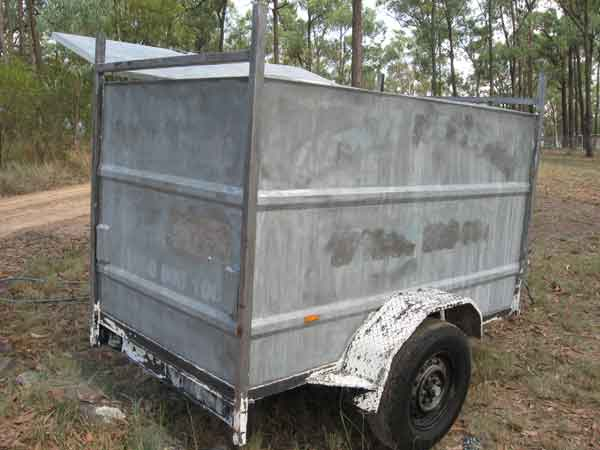 Trailer During Soda Blasting Full - Paint Stripping Trailers
